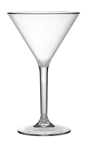 Garnet Coppa Martini Reutilizable - Juego de 6 piezas - Apto para lavavajillas - 26 Borde / 18 cl de servicio - Fabricado en Italia, plástico