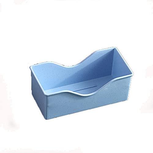 FUBBY Soporte para cubiertos, caja organizadora de almacenaje, caja de paja de trigo, resistente al agua, recipiente de almacenamiento para cuencos, platos y cubiertos