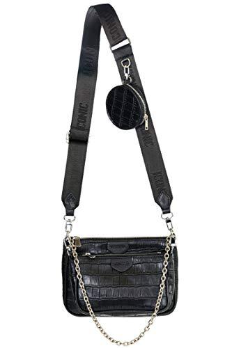 Vestino Damen Schultertasche Multi-Tasche 3-Teilig mit Nylonband