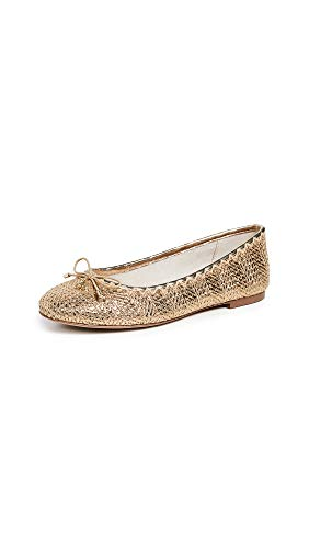 Sam Edelman Women's Falcon 2 Flats, Gold Stripe, 7.5 Medium US