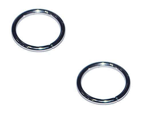 2x 14g 16g 18g 20g Body Piercing 316L Surgical Steel 14 16 18 20 Gauge Annealed Seamless Nose Ring Hoop Earring Eyebrow Tragus Cartilage 1/4 5/16 3/8 Set of 2 (18g-1/4