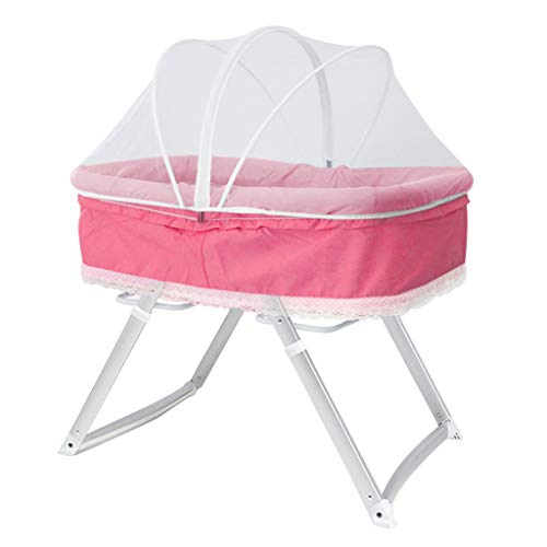 Best Review Of Rocking Chair Baby Crib Portable Folding Rocking Bassinet Comfort Shake Bed Multifunc...