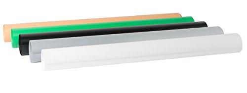 Bresser BR-PVC-1 Láminas de fondo para Mesas de Fotografía Set de 5 68x130cm