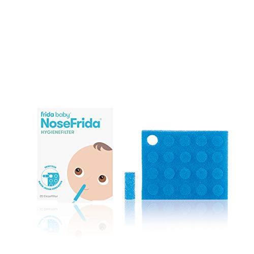 Fridababy NoseFrida Hygienefilter, 20 Stück, Nachfüllpackung für Nosefrida Nasensekretsauger für Babys ab 0 Monaten, 20085001101