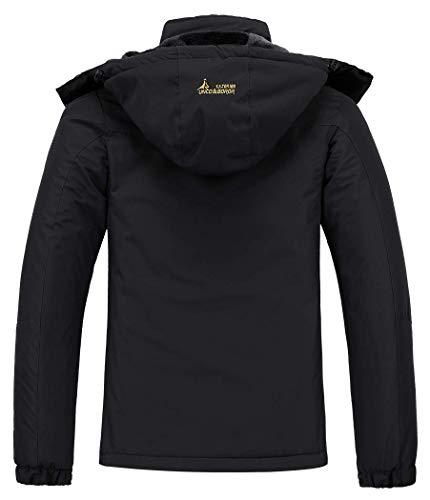 MOERDENG - Chaqueta de esquí para mujer, resistente al agua, abrigo de invierno para nieve, cortavientos de montaña, con capucha