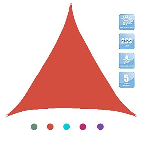 GAOZ Voile d'Ombrage Triangle Respirante,Epaisse & Résistante Intempéries, Voile Imperméable,pour Extérieur/Terrasse/Jardin 2.4m x 2.4m x 2.4m