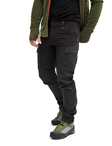 RevolutionRace Herren GPX Pants, Hose zum Wandern und für viele Outdoor-Aktivitäten, JetBlack, L