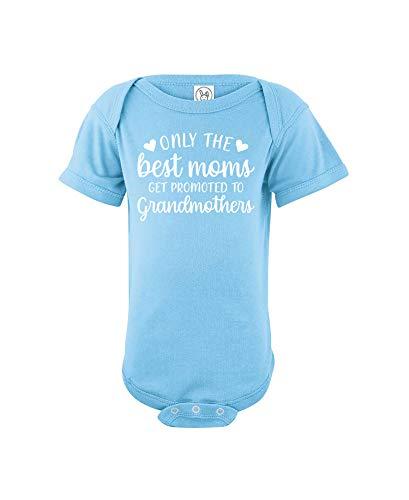 CrazWear Only The Best Moms Get Promoted to Grandmothers - Mono de algodón unisex para bebé - Mono de una pieza para bebé - azul - 12 meses