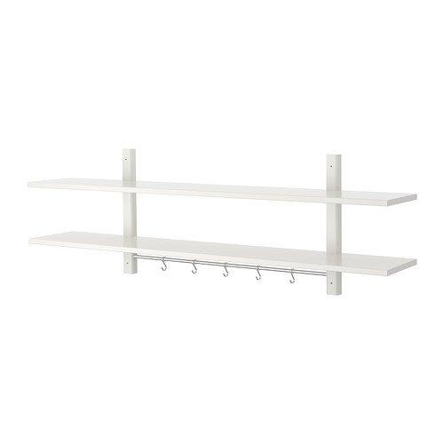 IKEA VARDE Wandregal mit 5 Haken weiß 502.413.37 Größe 55 1/8x19 5/8