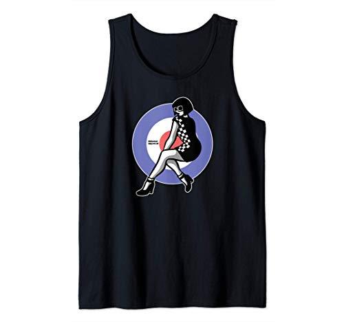 1960's Mod Northern Soul - Two-Tone Ska Girl / Scooter Girl Camiseta sin Mangas