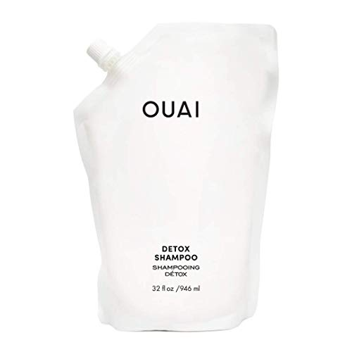 OUAI Detox Shampoo Refill Pouch. Clarifying Cleanse for Dirt, Oil, Product and Hard Water Buildup. Get Back to Super Clean, Soft and Refreshed Looks. (32 oz)