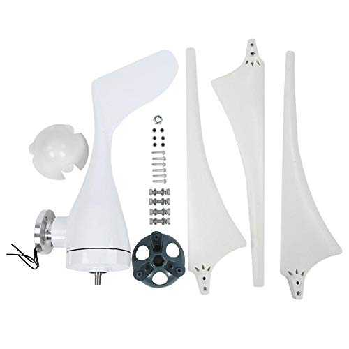 Boquite Windgenerator, Windkraftanlage-Generator 100W 3pcs 580mm Nylonfaser-Windfahnen-Energie-Windmühle NE-100S(20V)