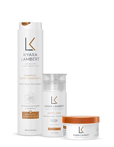 Kyara Lambert - Pack SUPER Nutritivo   Tratamiento Reconstructor Completo   Reparador de Seda Capilar   Súper Hidratante con Extracto de Orquídea Salvaje y Vitamina C   Cabellos secos y castigados
