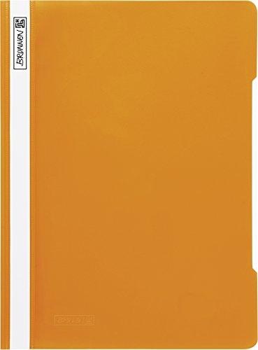 Brunnen 102011040 Schnellhefter (A4, aus PVC, glasklares Deckblatt) orange