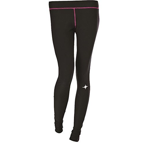 Polaris Women's Black Lightweight Polyester/Spandex Base Layer Pants- Black - Small