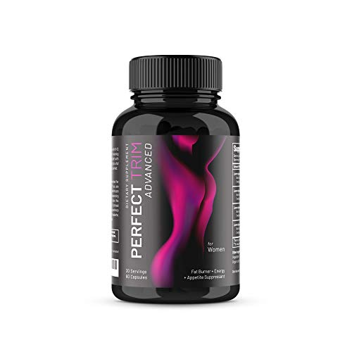 Perfect Trim Advanced Fat Burner for Women - Weight Loss Supplement and Appetite Suppressant, Green Tea Extract, Caffeine and Coleus Forskohlii to Boost Metabolism and Burn Belly Fat (30 Servings)