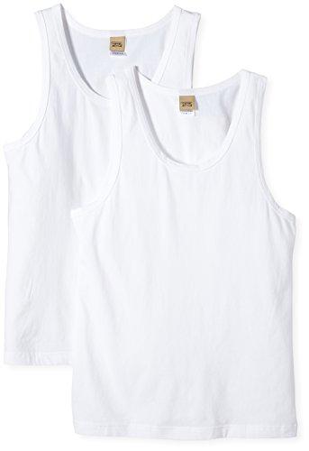 Camel Active Bodywear 2 Pack Sportshirt Maillot de Corps, Blanc-Blanc (1000), Large (Lot de 2) Homme