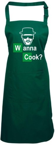 TABLIER-breaking bad white cook wanna cook chemistry walter bois