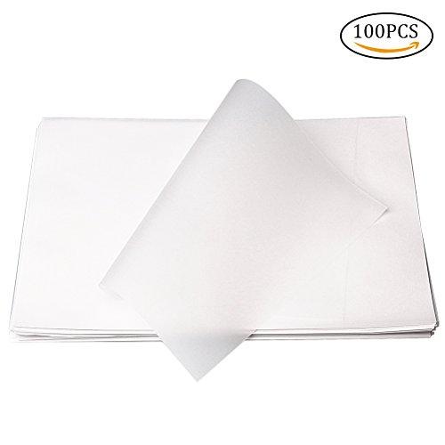 Nuosen 100 Blätte Transparentpapier DIN A4, beidseitige bedruckbare Tonpapier (OHP Transparentfolie Transparentpapier) für s/w Laserdrucker und Kopierer