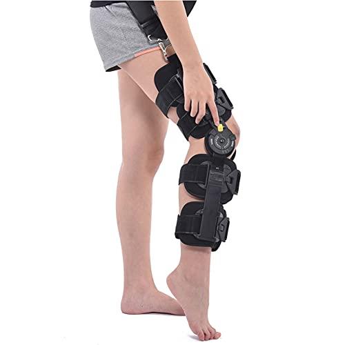 WANGXNCase Soporte De Rodilla Ajustable, Rodillera Postoperatoria para Estabilización De Recuperación, Estabilizador De Soporte Ortopédico Médico Ajustable Después De La Cirugía, Tamaño Univer