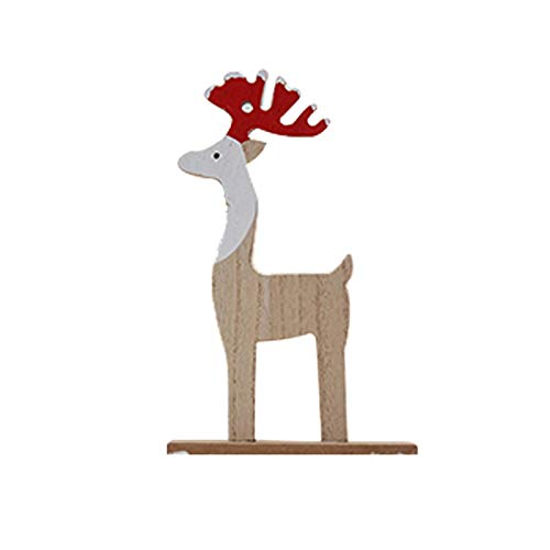 Gespout Décoration de Noël Ornements de Bureau Renne de Noël Intérieur Maison Salon Fête Parfaite Décoration Cadeau de Noel pour Enfants