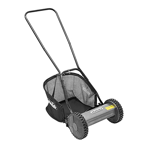 The Handy Manual Lawnmower 30cm Cylinder Push Mower with Roller - 1...