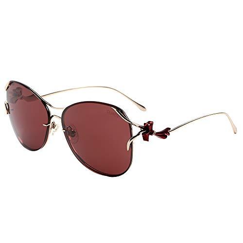 VIVIENFANG Premium Designer Farfalla Occhiali da sole per le donne, Autentico Nylon Polarizzato (protezione UV400), Oversize Due Tonalità di Colore per Lady U0708