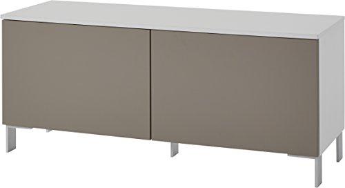 Germania 3733-520 Lowboard GW-Nivala | In Weiss und Sand | 113 x 48 x 41 cm