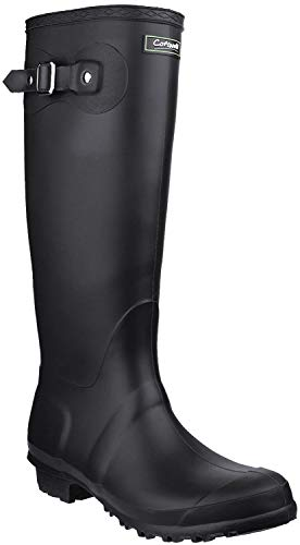 Cotswold Cotswold Ladies Sandringham Buckled Welly Wellington Boot Black