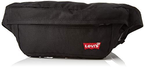 Levi's Herren Standard Banana Sling Batwing Schultertasche, Schwarz (Regular Black), 3.5x15.5x42 Centimeters