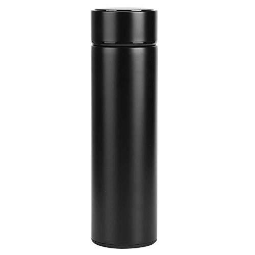 LetCart Botella de Agua aislada 500ml LED Pantalla Inteligente de Temperatura Botella de Agua aislada Taza de vacío térmica(Barcelona Azul)