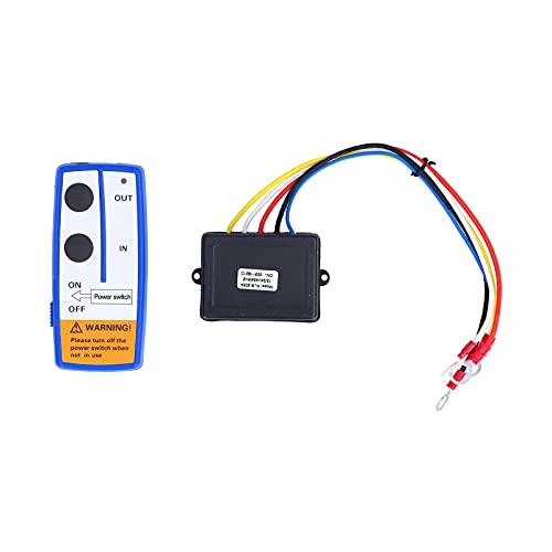 Folany Remolque inalámbrico para Remolque de Descarga, batería alcalina de 150 mAh, indicador Visual, Kit de Control Remoto del cabrestante, Giro eléctrico de 12 V para SUV