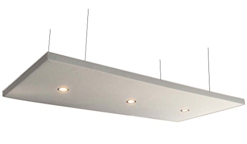 Horch Akustik Deckensegel mit 3 LED-Downlights