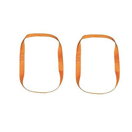 Timtina Braun Motorrad Bike-Lashing Zurrschlaufen, Farbe orange, Endlosschlingen 1 m Umfang, Bandbreite 25 mm, Set 2teilig (2 Stück 1m Umfang, orange)