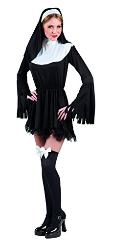Boland-23448 chica Sexy Monja Disfraz Mujer, color blanco/negro, M (Ciao Srl 23448)