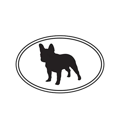 MAGNET French Bulldog Euro Oval Dog Canine Magnetic Vinyl Car Fridge Sticks to any Metal Surface 5'