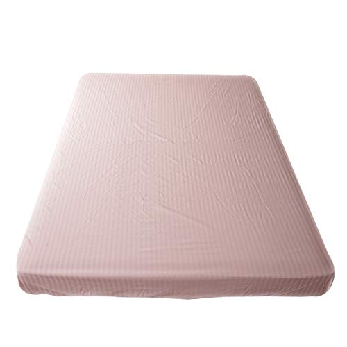 ベッドシーツ (ピンク, シングル) 日本製 綿100% サテンストライプ サテン 防ダニ 高級ホテル仕様 高密度生地 シーツ 北欧 ボックスシーツ おしゃれ etoile(エトワール)