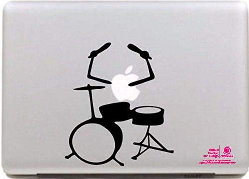 Artstickers. 11 Inch 13 Inch Laptop Sticker Musical Battery Design Sticker for Apple MacBook Pro Air Mac Laptop Black Spilart Gift Registered Trademark