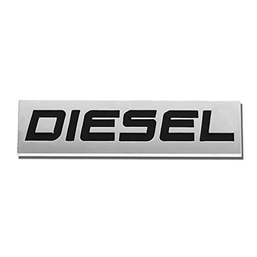 UrMarketOutlet Diesel Black/Chrome Aluminum Alloy Auto Trunk Door Fender Bumper Badge Decal Emblem Adhesive Tape Sticker