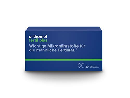 Orthomol fertil plus 30er Tabletten & Kapseln - Nahrungsergänzung für Männer - Fruchtbarkeit steigern bei Kinderwunsch