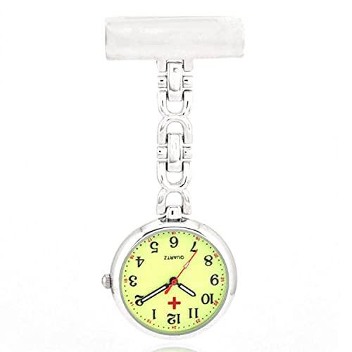YYMY Paramédico Reloj de Bolsillo,Gran Mesa de Enfermera Luminosa Colgante, núcleo de Cuarzo Doctor-White 1