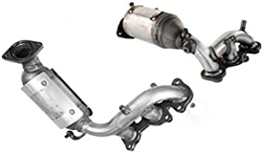 Catalytic Converter 2 Piece Bundle compatible with 2004-2006 Lexus RX330 | 2004-2007 Toyota Highlander | 2004-2006 Toyota Sienna | 3.3L Right+Left Side Manifold