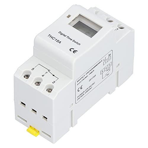 Surebuy Interruptor Temporizador, relé Temporizador antiinterferente fácil de Usar para la Industria