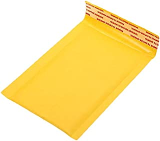 SODIAL 100 Pc/Lot Thickened Kraft Paper Bubble Envelopes Bags Mailers Padded Envelope with Bubble Mailing Bag Business Supplies 12X18Cm
