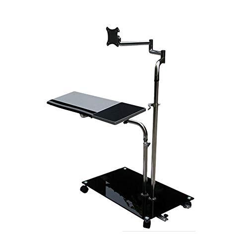 zxz Soporte ergonómico para Teclado y ratón, sofá de cabecera Ajustable, Soporte Giratorio para Monitor móvil, para Estaciones de Trabajo, Videojuegos