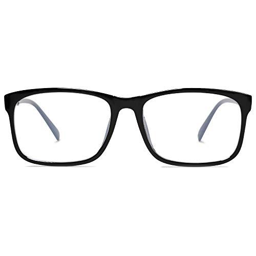 SOJOS Montatura Occhiali da Vista Donna Uomo Vintage Anti Luce Blu Gioco per Computer SJ5034 con Nero Telaio/Lente Anti-Blu