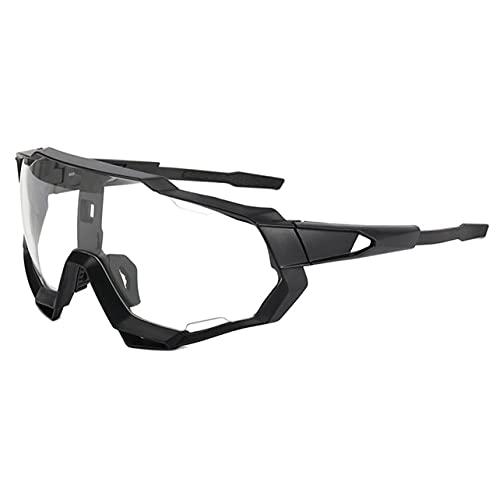 MARSPOWER Ergonomía Portátil Hombres Montar Gafas de Sol Coloridas Conexión Firme Guía física del Viento Antivaho Físico - Marco Blanco Lente Transparente