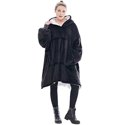 Surdimensionné à capuche Blanket Sweat-shirt,Le pull géant avec grande poche,Sweat à capuche nouveauté doux et confortable,1 taille s'adapte à tous,TV Couverture pour Hommes Femmes Enfants Adolescents