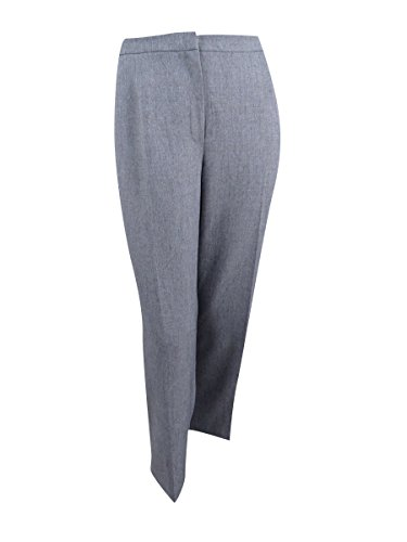 Kasper Women's Size Stretch Crepe Kate Pant, Grey/Black, 2 Petite