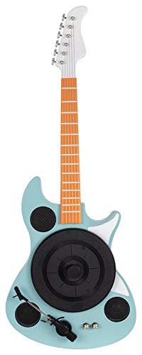 Beatfoxx GT-26 TQ Rory Plattenspieler in E-Gitarrenform - Vertikal Retro Vinyl Turntable mit Direktantrieb - Schallplattenspieler mit Bluetooth & AUX - 3 Geschwindigkeiten